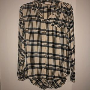 LUCKY plaid button down